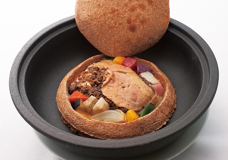 ①平目の野菜の塩パン包焼き