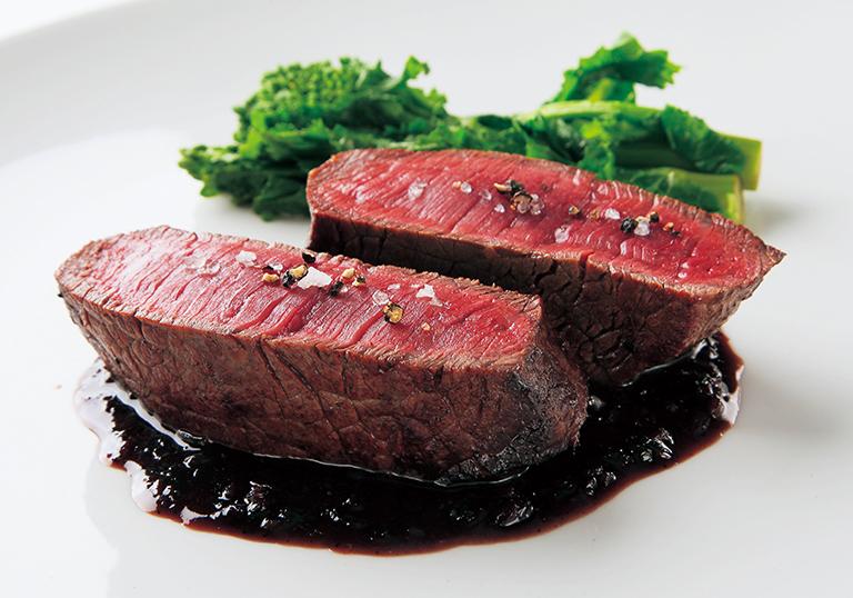 ③黒毛和牛ランプ肉のステーキ エシャロットソース 5.4g