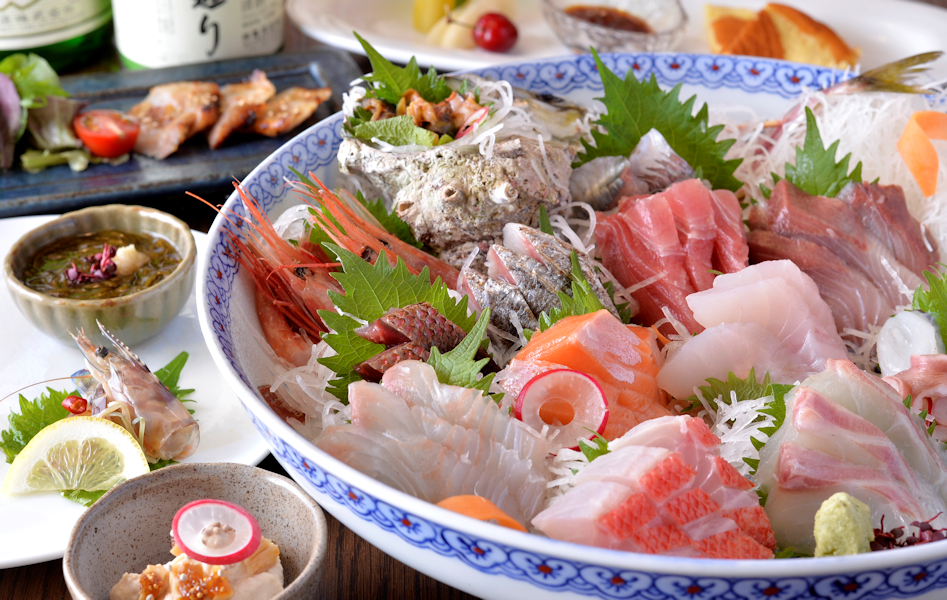 日本酒が4合飲めて美味しい魚が 食べられる健康メニュー(飲み放題込み)