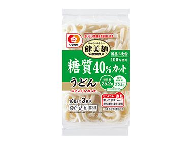冷凍「健美麺」糖質40%カットうどん3食