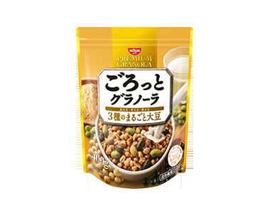 ごろっとグラノーラ 3種のまるごと大豆