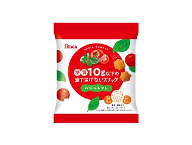 糖質10g以下の油であげないスナック(バジルトマト)